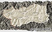 Shaded Relief 3D Map of Valle d'Aosta, darken