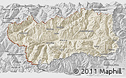 Shaded Relief 3D Map of Valle d'Aosta, desaturated
