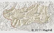 Shaded Relief 3D Map of Valle d'Aosta, lighten