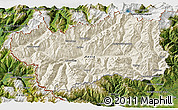 Shaded Relief 3D Map of Valle d'Aosta, satellite outside