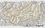 Shaded Relief 3D Map of Valle d'Aosta, semi-desaturated