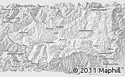 Silver Style 3D Map of Valle d'Aosta