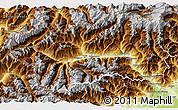 Physical 3D Map of Aosta