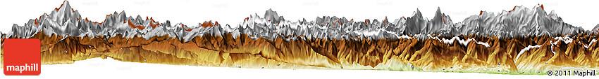Physical Horizon Map of Aosta