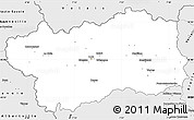Silver Style Simple Map of Aosta