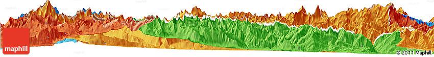 Political Horizon Map of Valle D'Aosta