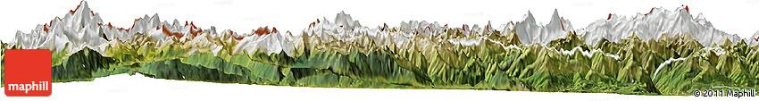 Satellite Horizon Map of Valle D'Aosta