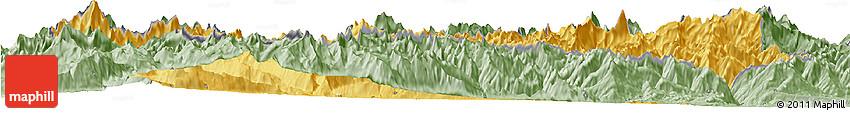 Savanna Style Horizon Map of Valle D'Aosta