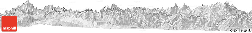 Silver Style Horizon Map of Valle D'Aosta