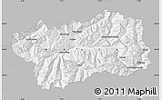 Gray Map of Valle d'Aosta, single color outside