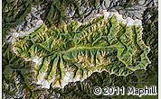 Satellite Map of Valle d'Aosta, darken