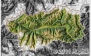 Satellite Map of Valle d'Aosta, desaturated