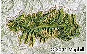 Satellite Map of Valle d'Aosta, lighten