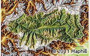 Satellite Map of Valle d'Aosta, physical outside