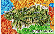 Satellite Map of Valle d'Aosta, political outside