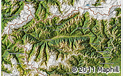 Satellite Map of Valle d'Aosta