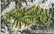 Satellite Map of Valle d'Aosta, semi-desaturated