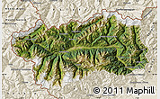 Satellite Map of Valle d'Aosta, shaded relief outside