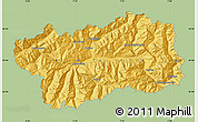 Savanna Style Map of Valle d'Aosta, single color outside