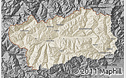Shaded Relief Map of Valle d'Aosta, darken, desaturated