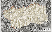 Shaded Relief Map of Valle d'Aosta, darken, semi-desaturated