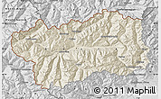 Shaded Relief Map of Valle d'Aosta, desaturated
