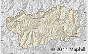 Shaded Relief Map of Valle d'Aosta, lighten, desaturated