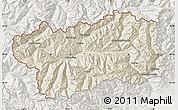 Shaded Relief Map of Valle d'Aosta, lighten