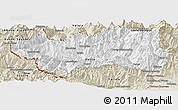Classic Style Panoramic Map of Valle d'Aosta