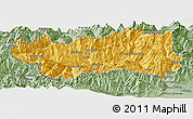 Savanna Style Panoramic Map of Valle d'Aosta