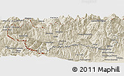 Shaded Relief Panoramic Map of Valle d'Aosta