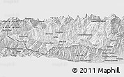 Silver Style Panoramic Map of Valle d'Aosta