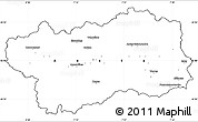 Blank Simple Map of Valle d'Aosta, cropped outside