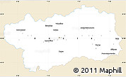 Classic Style Simple Map of Valle d'Aosta, single color outside