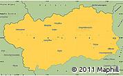Savanna Style Simple Map of Valle d'Aosta