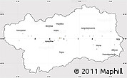 Silver Style Simple Map of Valle d'Aosta, cropped outside