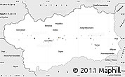 Silver Style Simple Map of Valle d'Aosta
