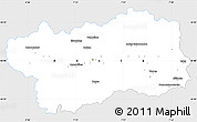 Silver Style Simple Map of Valle d'Aosta, single color outside