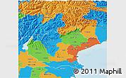 Political 3D Map of Veneto