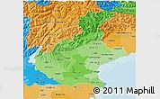 Political Shades 3D Map of Veneto