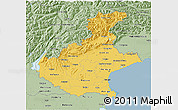 Savanna Style 3D Map of Veneto