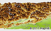 Physical Panoramic Map of Belluno