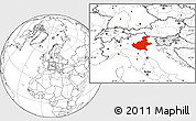 Blank Location Map of Veneto