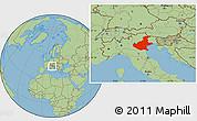 Savanna Style Location Map of Veneto