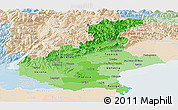 Political Shades Panoramic Map of Veneto, lighten