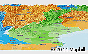Political Shades Panoramic Map of Veneto