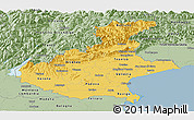 Savanna Style Panoramic Map of Veneto