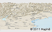 Shaded Relief Panoramic Map of Veneto