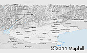 Silver Style Panoramic Map of Veneto