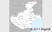 Gray Simple Map of Veneto